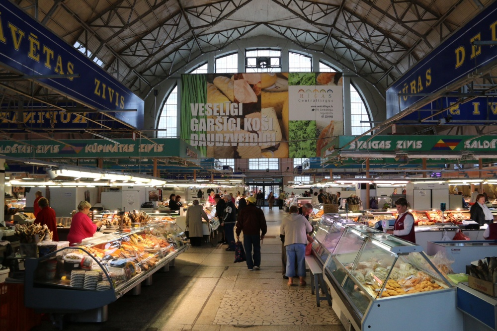 Riga's food hall...well one of them.