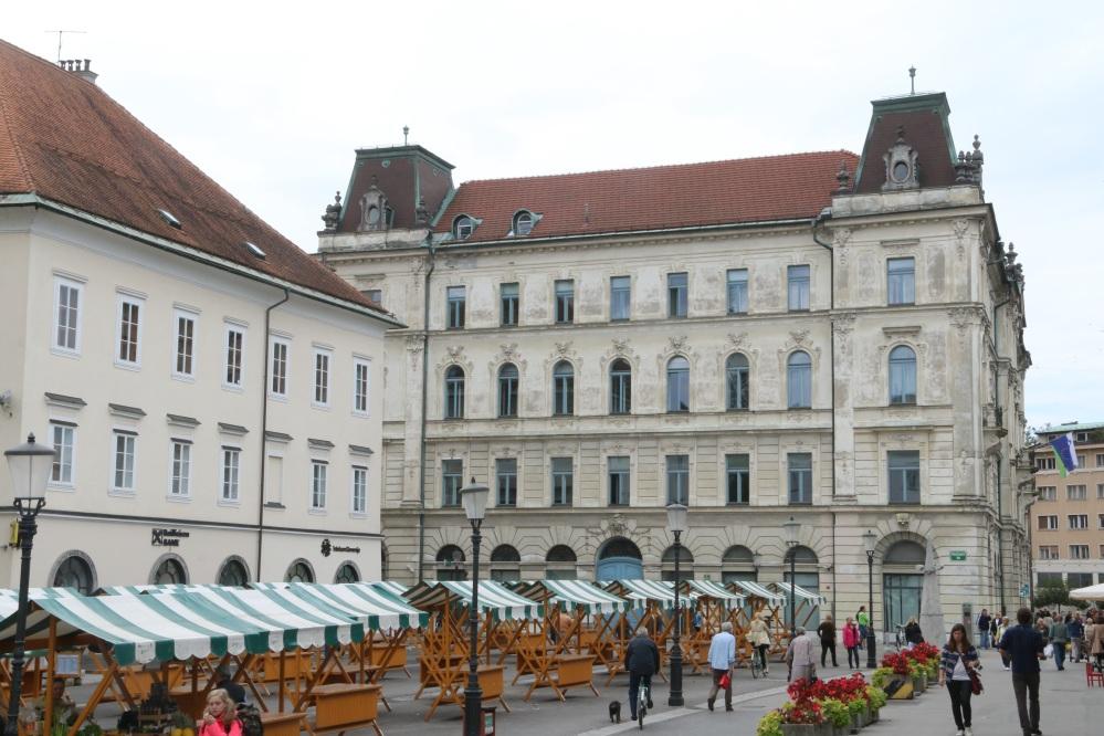 Ljubljana 's market square