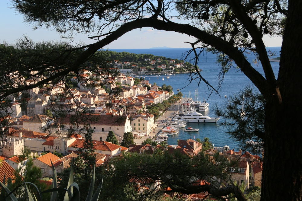 Hvar from fortress road