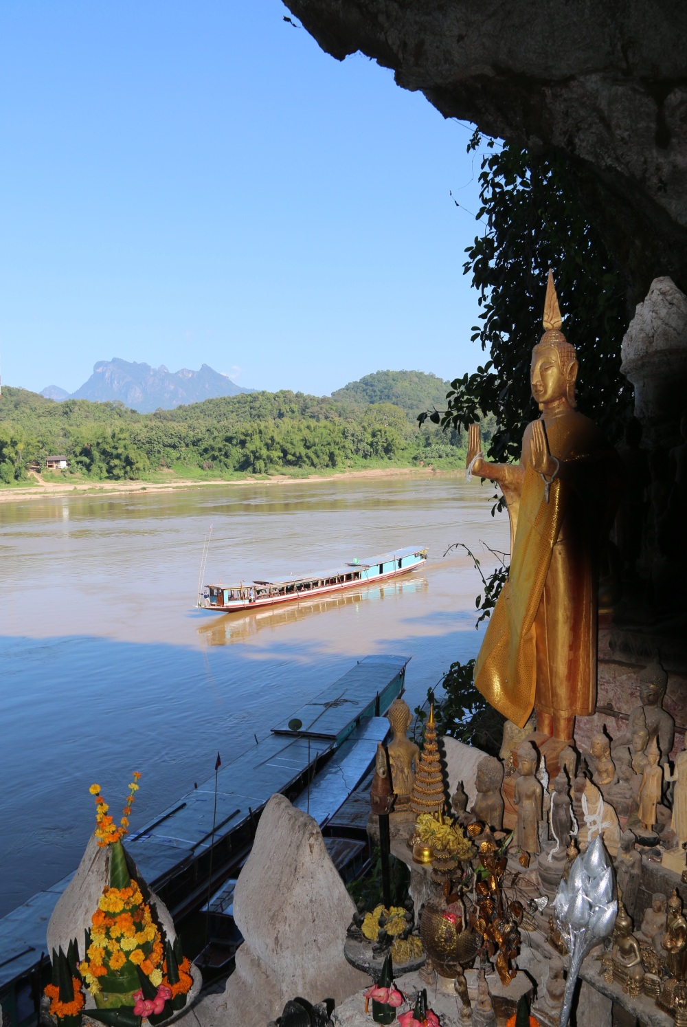 Mekong River from temple cave