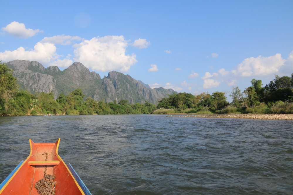 Nam Xong River and Karst mountains