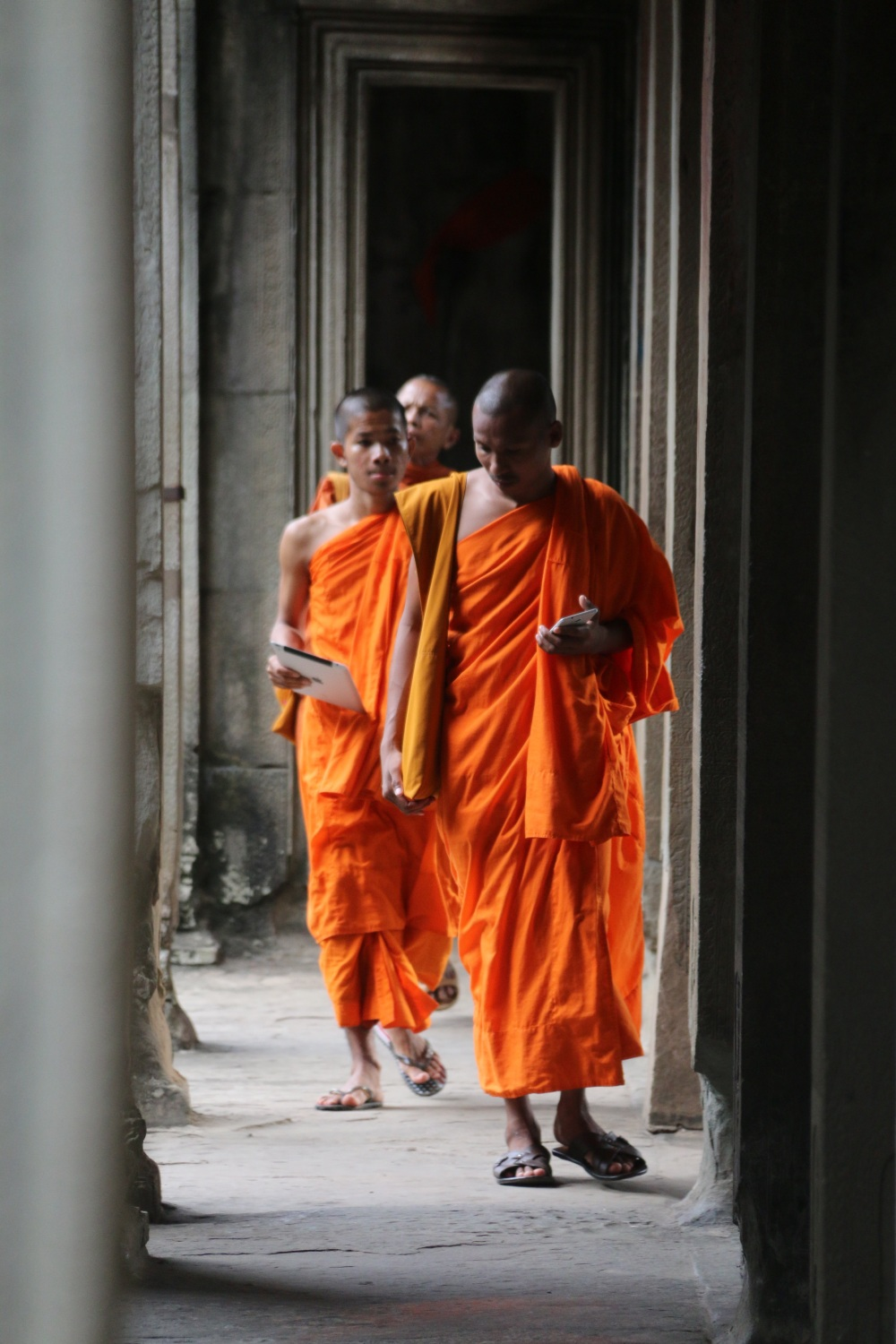 Monks with gadgets!